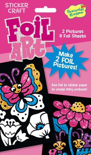 Peaceable Kingdom / Foil Art Butterfly & Ladybug Sticker Craft Pack front-850397