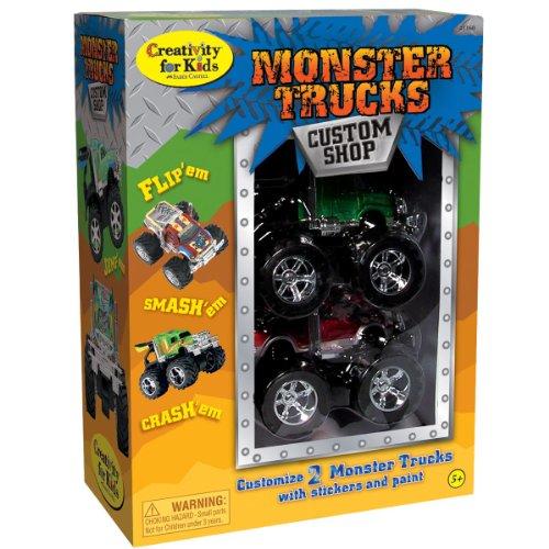 Creativity For Kids Monster Trucks Custom Shop - 2 Pack front-357068