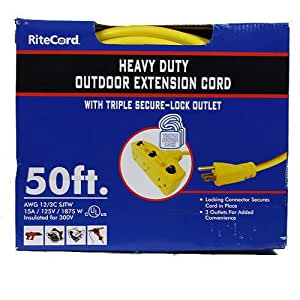 50 ft heavy duty outdoor extension cord. Black Bedroom Furniture Sets. Home Design Ideas
