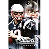 (22x34) New England Patriots Tom Brady Sports Poster Print