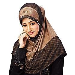 Aqsfa107M Handwork design Stretchable Hijab Medium size