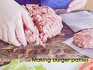 Parchment Paper Rounds-200 Pack 5 Inch,200 Pack 4 5 Non-stick Hamburger Patty Paper,
