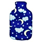 Warm Tradition Child/Travel Night Sky Fleece Cover for Hot Water Bottle - COVER ONLY- Made in USA