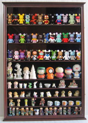 Toy Figures / Bearbrick / Vinylamtion Display Case Large Wall Curio Cabinet  With Door Wall Mount CDSC16
