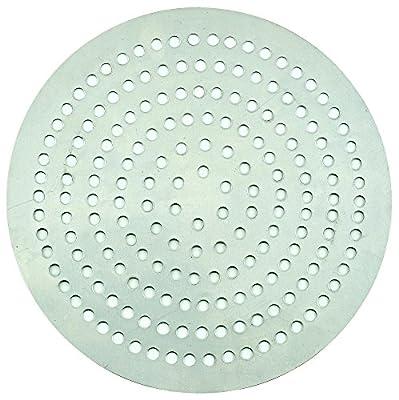 """Winco APZP-13SP 13"""" Diameter 292 Holes Aluminum Super-Perforated Pizza Disk"""