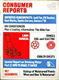 CONSUMER REPORTS Audi Fox Volkswagen Dasher Opel Toyota Datsun 710 tests 7 1974