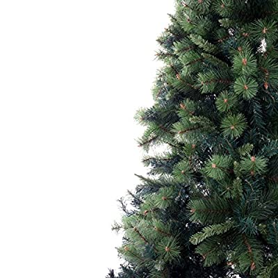 Mercer Leisure 7ft Green Indoor Undecorated Artificial Amsterdam Pine Christmas Tree from Mercer Leisure