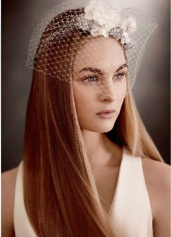 Vera Wang WHITE BY VERA WANG bought a new elegant bridal veil veil VW370161 crystal