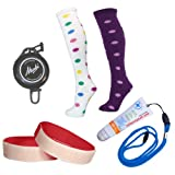 Ski Trip Packl - 2 x Socks (Red & Hoops) Lipbalm Suncream + neck lanyard & Ski Ties