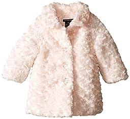 Calvin Klein Baby Girls\' Pink Faux Fur Jacket, Pink, 18 Months