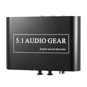 Decodificador de Sonido Digital Dolby DTS AC3 Optico a 5.1