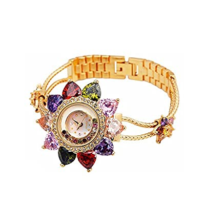Smays Flower Women's Quartz Dress Bangle Watches Gold from GuangZhou Smays Watches Industy Co.,Ltd