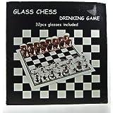 Glass Chess Drinking Game; 32 Shot Glasses