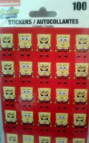 Nickelodeon SpongeBob Squarepants - 100 Stickers Included - 1