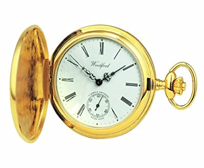 Woodford Pocket Watch 1016 Gold Plated Full Hunter