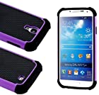 myLife Classic Rugged Design (2 Piece Hybrid Bumper) Hard and Soft Case for the Samsung Galaxy S4 Fits Models: I9500, I9505, SPH-L720, Galaxy S IV, SGH-I337, SCH-I545, SGH-M919, SCH-R970 and Galaxy S4 LTE-A Touch Phone (Fitted Back Solid Cover Case + Internal Silicone Gel Rubberized Tough Armor Skin)