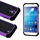 myLife (TM) Black and Purple - Classic Rugged Design (2 Piece Hybrid Bumper) Hard and Soft Case for the Samsung... by myLife Brand Products