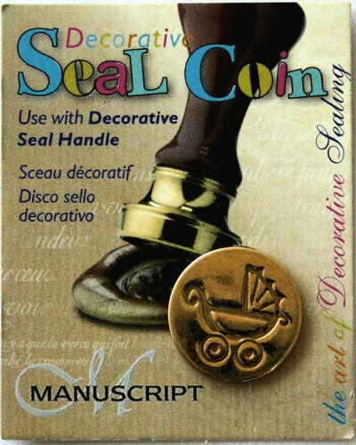 Manuscript Pen 727PRM Decorative Seal Coin, 0.75-Inch, Pram Baby Carriage - 1