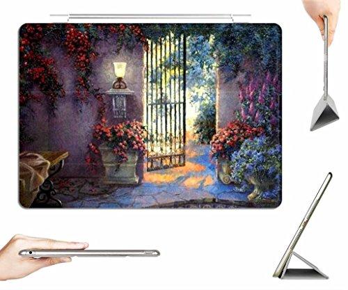irocket-ipad-air-case-transparent-back-cover-garden-oil-painting-auto-wake-sleep-function