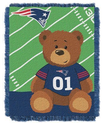 New England Patriots Woven Baby Throw - 1
