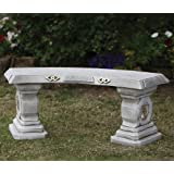 Large Garden Benches - Japanese Design Stone Bench