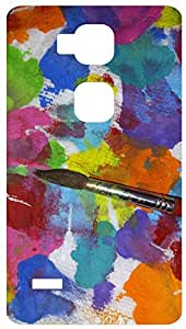 Artist Palet Back Cover Case for Huawei Ascend Mate 7