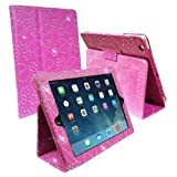 """HOT PINK DIAMOND BLING SPARKLY CRYSTAL PU LEATHER MAGNETIC FLIP CASE COVER STAND SKIN FOR SAMSUNG GALAXY TAB 3 P3200 7"""" Inch By Connect Zone�"""