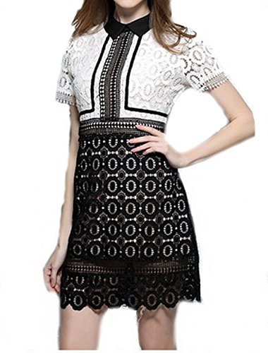 celebritystyle-collar-neck-white-black-lace-dress-m