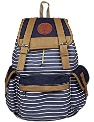 Santimon - Unisex Fashionable Canvas Backpack School Bag Super Cute Stripe School College Laptop Bag For Teens... - B00Q8OTNQO