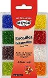 Rocailles Mini-Glasperlen Mix 8 Farben 2,5mm 60g Transparent