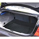 Black Heavy Duty Rubber Boot Protection Mat Liner For Vauxhall Astra Twintop 2005-2011 Convertible Trim For a Secure Fit