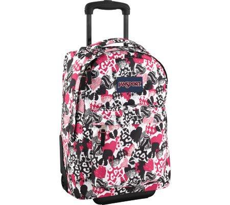 589fcb782 Jansport Superbreak Wheeled Backpack (Black/White Bleeding Heart) Feature