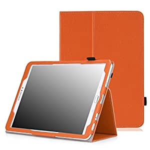 MoKo Tab S2 9.7 Case - Slim Folding Cover Case for Samsung Galaxy Tab S2 9.7 Android 5.0 2015 Version, ORANGE (With Auto Wake / Sleep and Stylus Pen Loop)