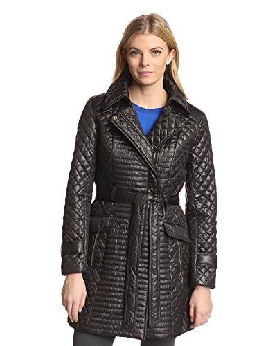 Via Spiga Women's Quilted Moto-Inspired Coat