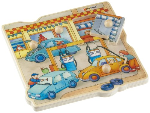 Picture of Chelona Gas Station City Peg Puzzle (B000EN83ZW) (Pegged Puzzles)