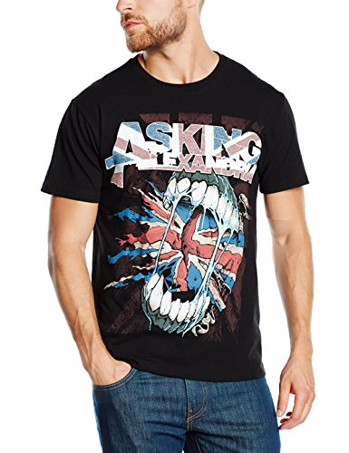 Asking Alexandria - Flag Eater, Short sleeve da uomo, nero (black), L