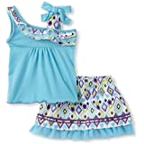 Little Lass Baby-girls Infant 2 Piece Ikat Skirt Set