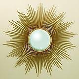 Global Views Sunburst Mirror, Gold