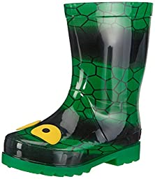 Skechers S Lights Waterspout Drip Drops Boys Rubber Boots Green 5