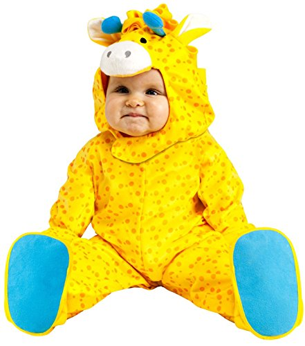 Fun World Costumes Baby's Giraffe Infant Costume, Yellow/Blue, Large