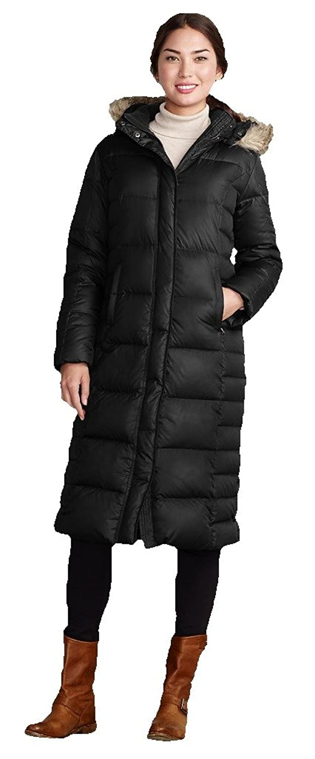 Eddie Bauer Women's 2014 Down Duffle Coat Parka eddie and dog