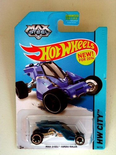 Max Steel Turbo Racer (Blue) Diecast Car (Hot Wheels)(2013)