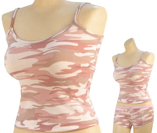 Baby Pink Camouflage Womens Slim-Fit T-Shirt 4976 Size L