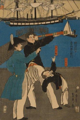 Russians Enjoying Themselves On Sunday In Yokohama, By Sadahide Utagawa, 20X30 Canvas Giclée, Gallery Wrap