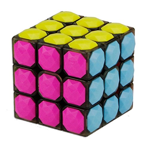 Yeelan Puzzle Magic Cube 3x3, Forme diamant, noir et Stickerless