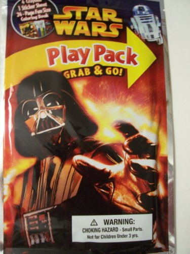 Star Wars On the Go Play Pack ~ Darth Vadar on Red & Yellow