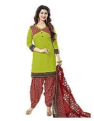 Aarvi Women's Cotton Unstiched Dress Material Multicolor -CV00096