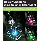 Globatek Colour Changing Saturn Wind Spinner Solar Light Garden - No Wires Requiredby Globatek