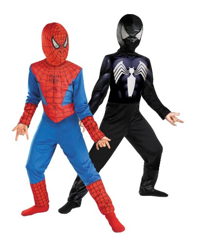 Reversible Spider-Man Red To Black Classic Costume, Child M(7-8) front-979984