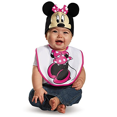 Pink Minnie Mouse Bib & Hat Costume Set